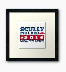 Scully & Mulder Campaign 2016 Framed Print