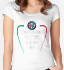 Life is too short to drive a boring car - Alfa TriColore Women's Fitted Scoop T-Shirt
