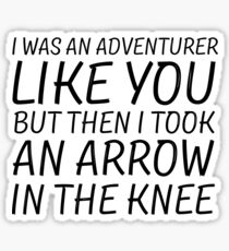 Elder Scrolls Skyrim Funny Quote Arrow To The Knee Sticker