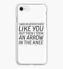 Elder Scrolls Skyrim Funny Quote Arrow To The Knee iPhone Case/Skin