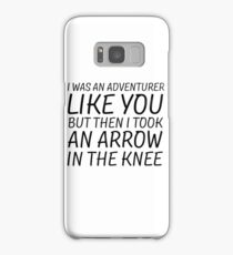 Elder Scrolls Skyrim Funny Quote Arrow To The Knee Samsung Galaxy Case/Skin