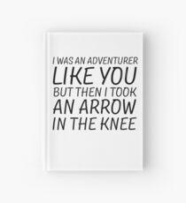 Elder Scrolls Skyrim Funny Quote Arrow To The Knee Hardcover Journal