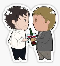 Tiny Hannigram Calm Before the Wrath Sticker