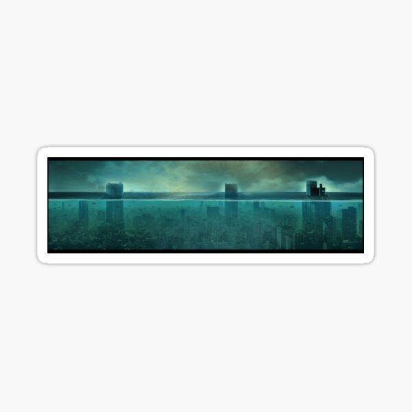 Underwater city. Apocalypse  Sticker