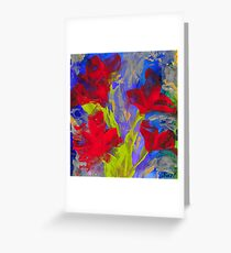 RED BLOOMS OF SUMMER Greeting Card