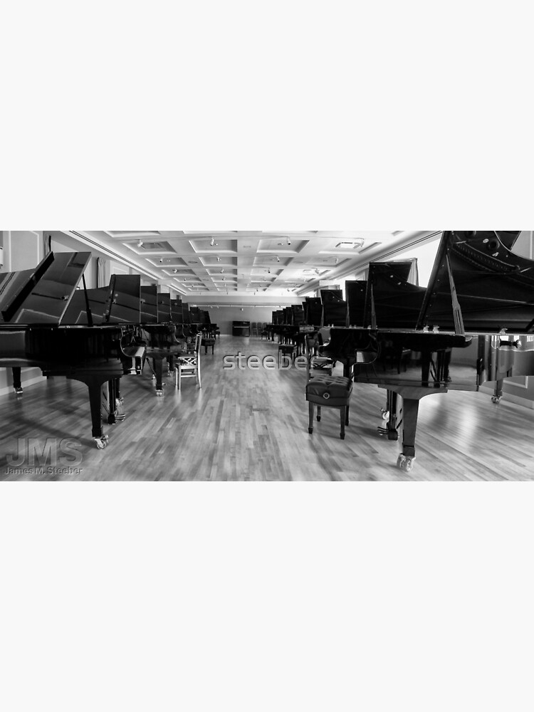 Long Row of Pianos by steeber