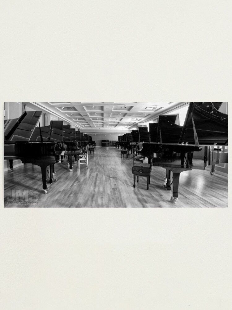 Alternate view of Long Row of Pianos Photographic Print