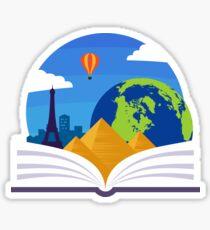 Geography Emblem Sticker
