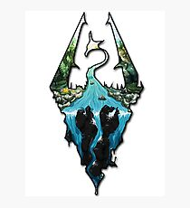 Custom Skyrim Logo Photographic Print