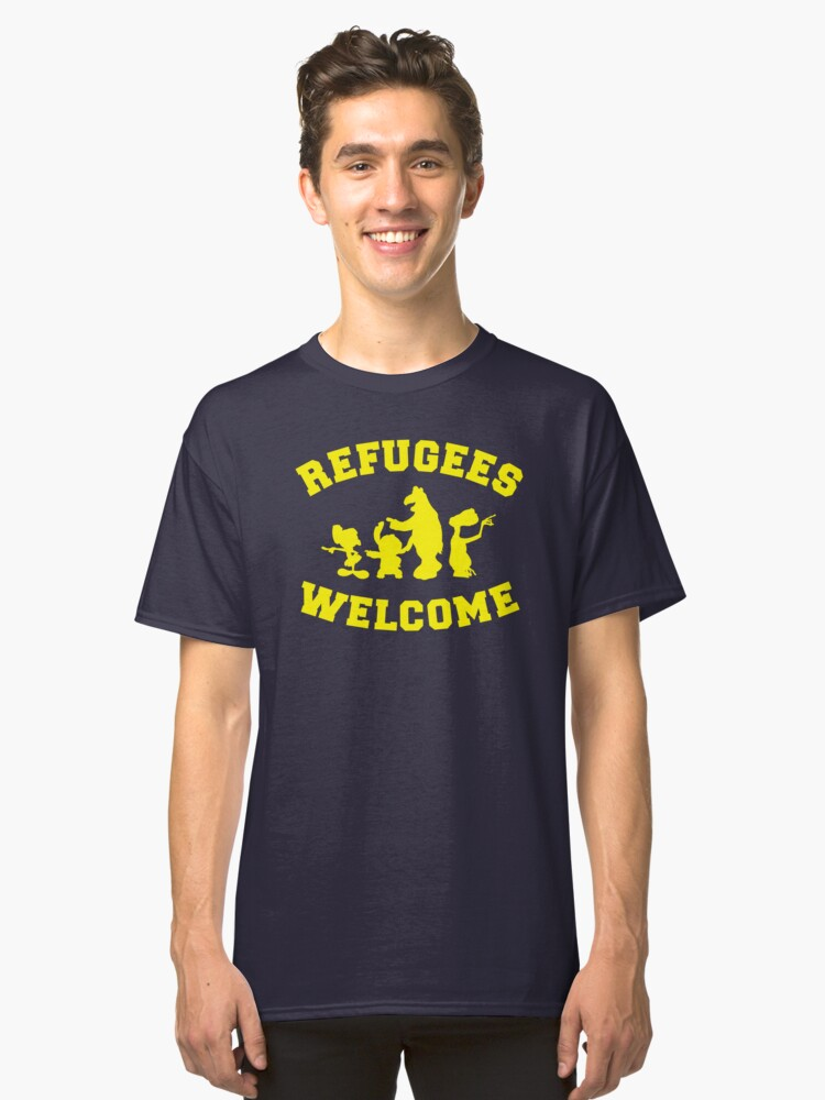 Refugees Welcome Classic T-Shirt Front