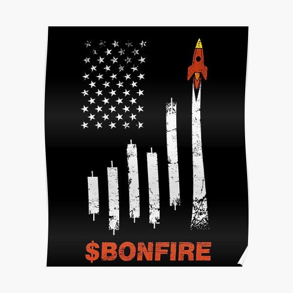 Bonfire Crypto Bonfire Coin HODL Stay Cozy Poster
