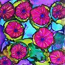 Basket of Petunias by Betsy Ellis