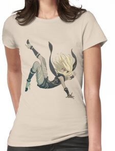 Gravity Rush - Falling Kat Womens Fitted T-Shirt