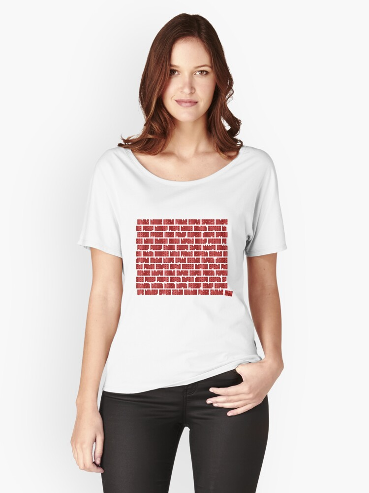 Empty Spaces Women's Relaxed Fit T-Shirt Front