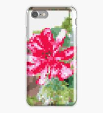 8 bit tongue flower iPhone Case/Skin