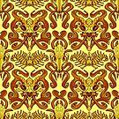 Monster Damask (gold) by Swirlything