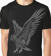 Flying Eagle, grey Graphic T-Shirt