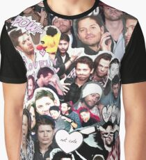Supernatural Collage Graphic T-Shirt