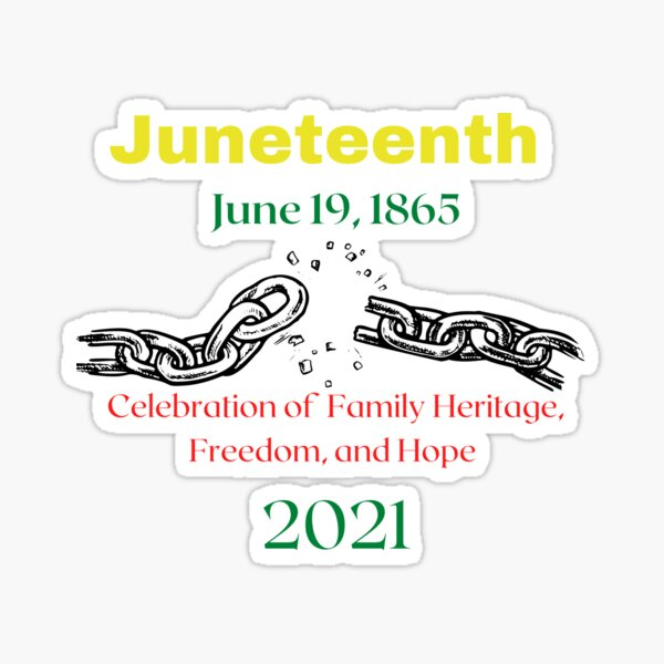 Celebration of African American Heritage Sticker