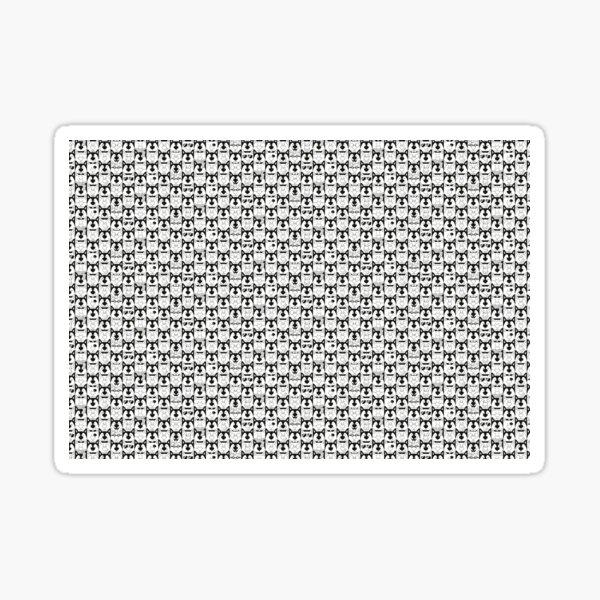 BW Dog Pattern Sticker