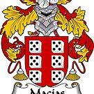 Macias Coat of Arms/ Macias Family Crest by William Martin