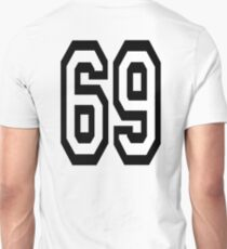 69, TEAM, SPORT, NUMBER, SIXTY NINE, SIXTY NINTH, Soixante Neuf, Competition T-Shirt