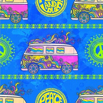 Print with hippie car by anvino
