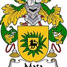 Mata Coat of Arms/ Mata Family Crest by William Martin