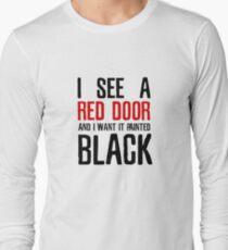 Paint It Black The Rolling Stones Lyrics T-Shirt