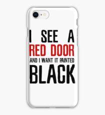 Paint It Black The Rolling Stones Lyrics iPhone Case/Skin