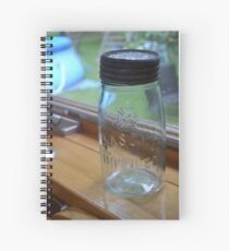 Mason Jar Spiral Notebook