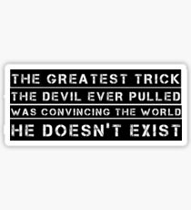 Devil Quote The Usual Suspects Movie Kevin Spacey Sticker