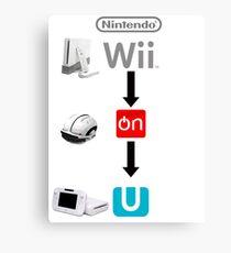 Nintendo Wii On U Canvas Print
