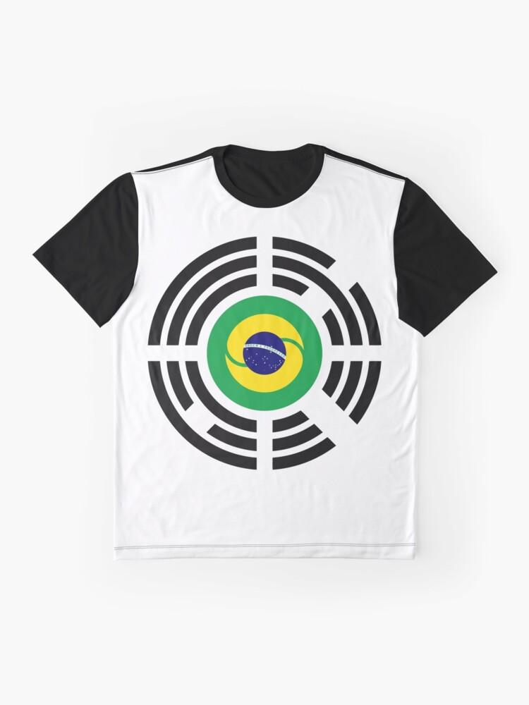 Alternate view of Korean Brazillian Multinational Patriot Flag Series Graphic T-Shirt