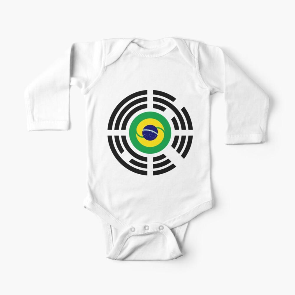 Korean Brazillian Multinational Patriot Flag Series Baby One-Piece