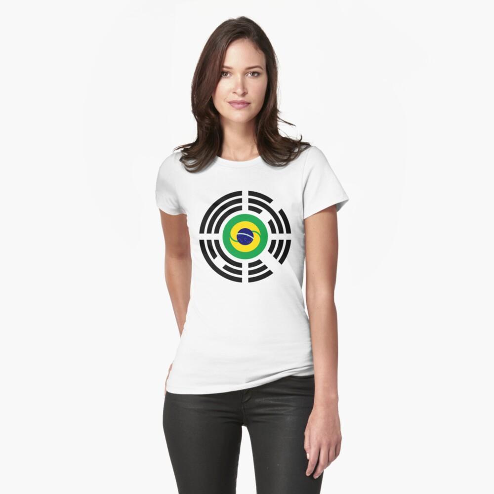 Korean Brazillian Multinational Patriot Flag Series Fitted T-Shirt
