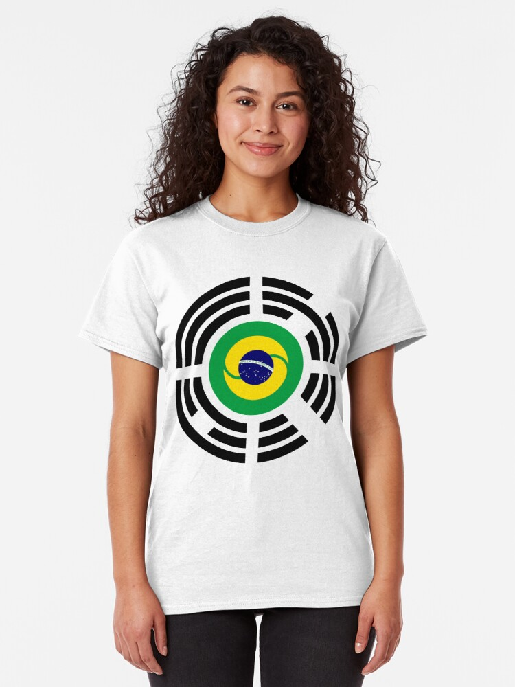 Alternate view of Korean Brazillian Multinational Patriot Flag Series Classic T-Shirt
