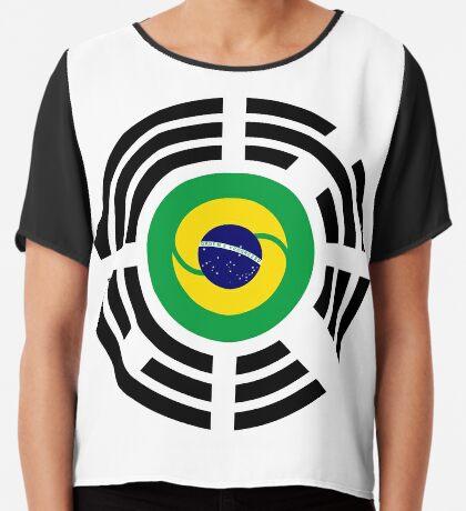 Korean Brazillian Multinational Patriot Flag Series Chiffon Top