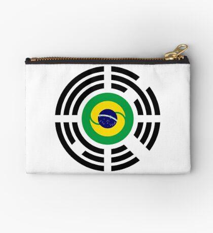 Korean Brazillian Multinational Patriot Flag Series Zipper Pouch