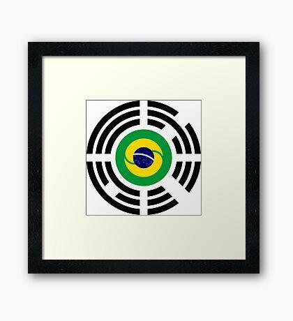 Korean Brazillian Multinational Patriot Flag Series Framed Print