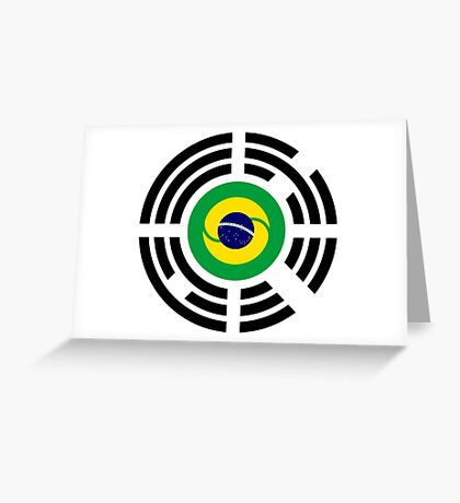 Korean Brazillian Multinational Patriot Flag Series Greeting Card