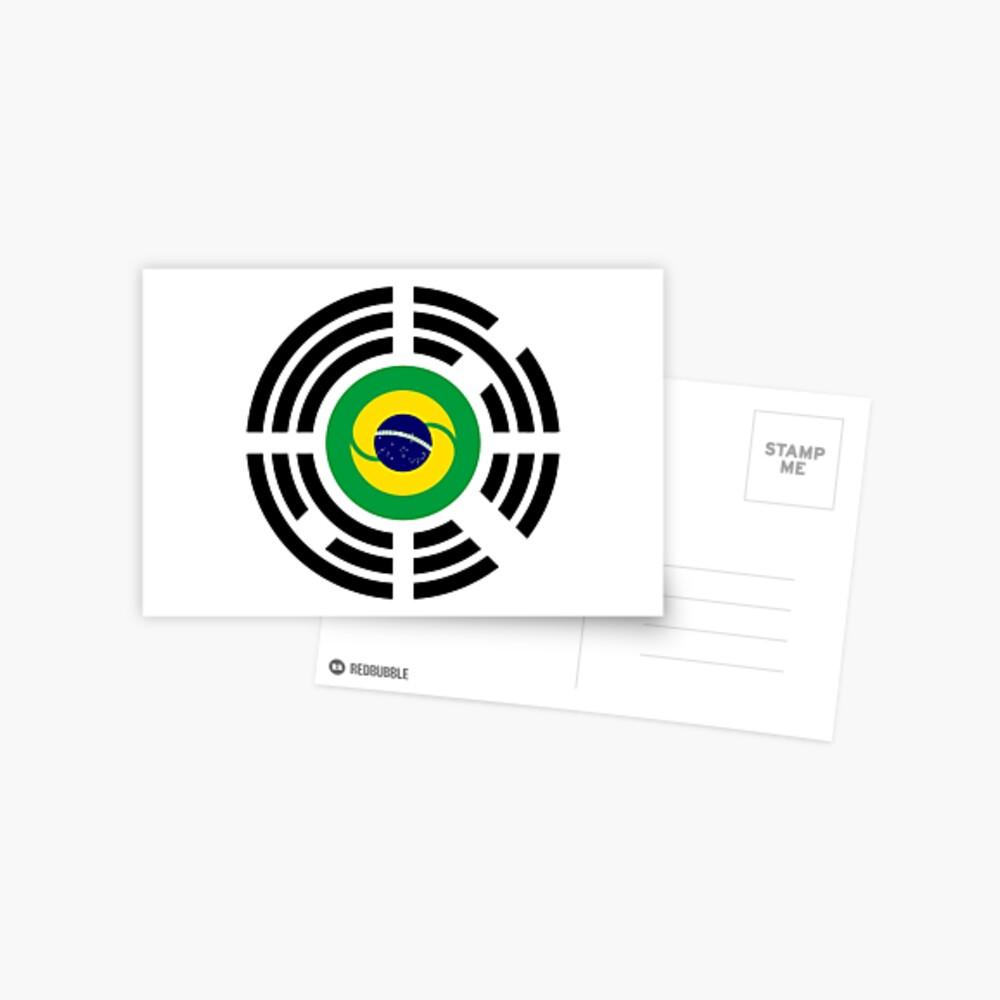Korean Brazillian Multinational Patriot Flag Series Postcard