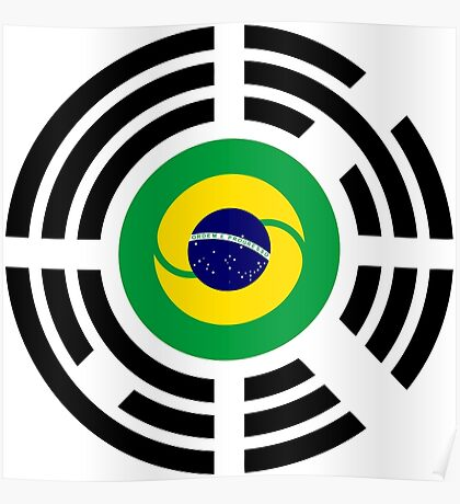 Korean Brazillian Multinational Patriot Flag Series Poster