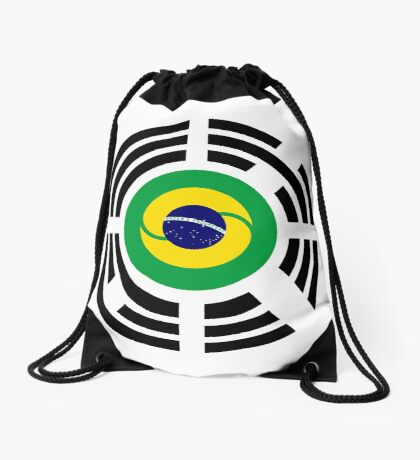 Korean Brazillian Multinational Patriot Flag Series Drawstring Bag