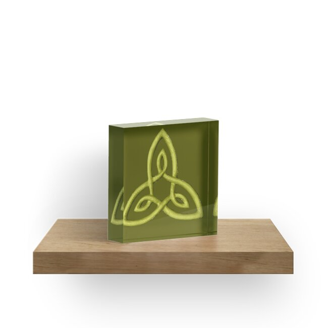 Celtic Symbol For Inner Strength Acrylic Blocks By Zentiful Redbubble