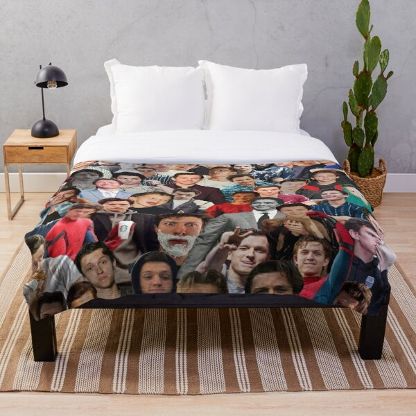 Tom Holland Photo Collage Throw Blanket