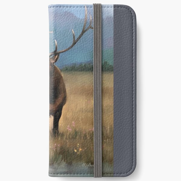 Elk - Detail of the oil painting 'Northern Landscape'  iPhone Wallet