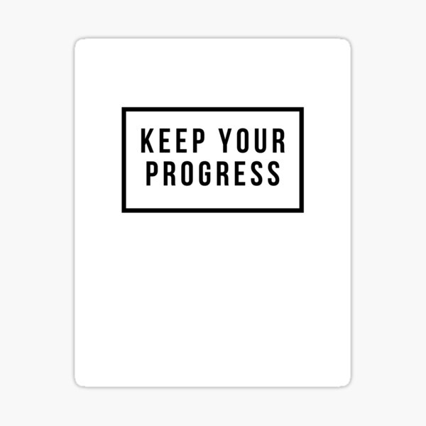 The progress and the ghost Sticker