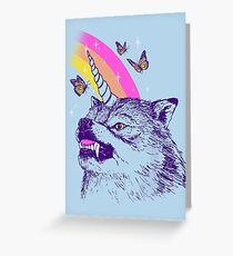 Wolfcorn Greeting Card