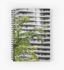 Contrast Between Nature and City Spiral Notebook